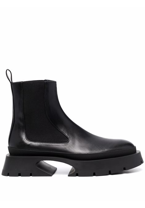 Sculpted ankle boots with almond toe black- women JIL SANDER | JS37061A14020001