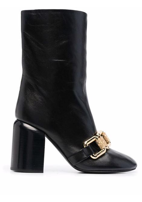 Stivali con dettaglio catena in nero - donna JIL SANDER   JS37232C14012001