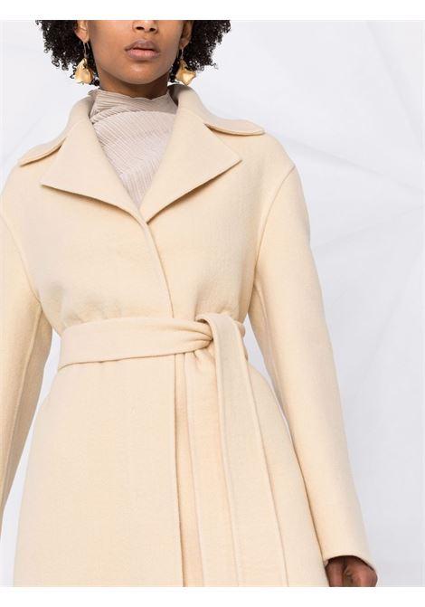 Belted double-breasted coat in beige - women JIL SANDER | JSPT120285WT200603261
