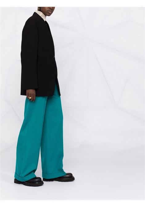 Black collarless single breasted blazer - women  JIL SANDER | JSPT130510WT20070F001