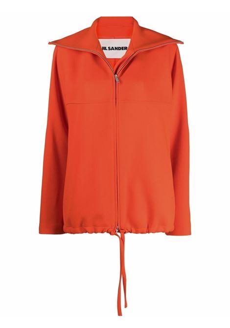 Oversized-collar jacket in orange - women  JIL SANDER | Outerwear | JSPT150125WT201100820