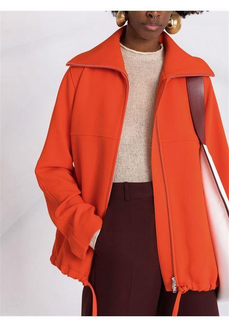 Oversized-collar jacket in orange - women  JIL SANDER | JSPT150125WT201100820