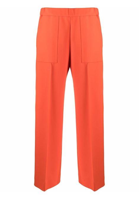 Cropped wide-leg trousers orange - women  JIL SANDER | JSPT311203WT201100820