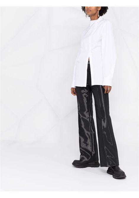 Button-down asymmetric shirt in white - women  JIL SANDER | JSPT602105WT245500100