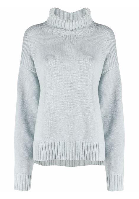 Light blue roll-neck cashmere-blend jumper - women  JIL SANDER | JSPT752015WTY11048330