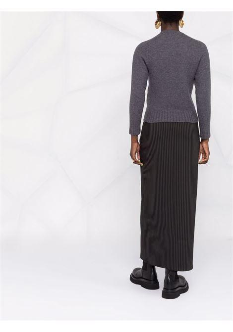 Long sleeve round neck jumper grey- women JIL SANDER | JSPT752052WTY20408032
