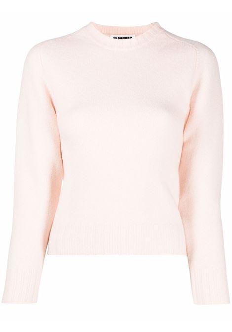 Three-quarter sleeve jumper blush pink - women  JIL SANDER | Sweaters | JSPT752052WTY20408684
