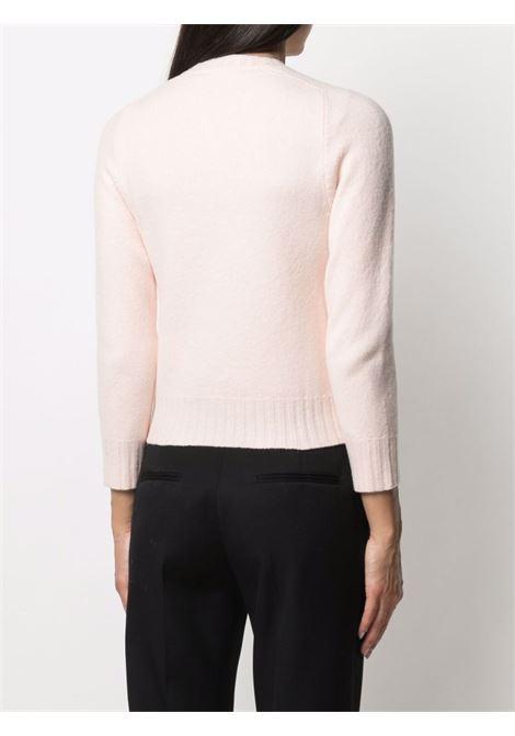 Three-quarter sleeve jumper blush pink - women  JIL SANDER | JSPT752052WTY20408684