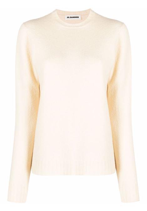 Crew-neck jumper cream - women JIL SANDER | JSPT752053WTY20408109