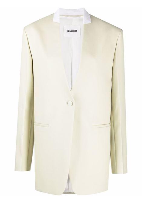 Green single-breasted oversized tailored blazer - women  JIL SANDER | JSWT135710WT201000110