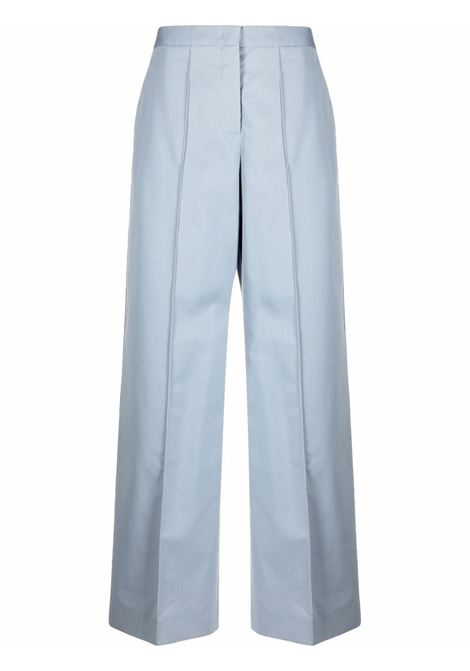 Blue high-waist wide-leg trousers - women  JIL SANDER | JSWT305405WT251400042