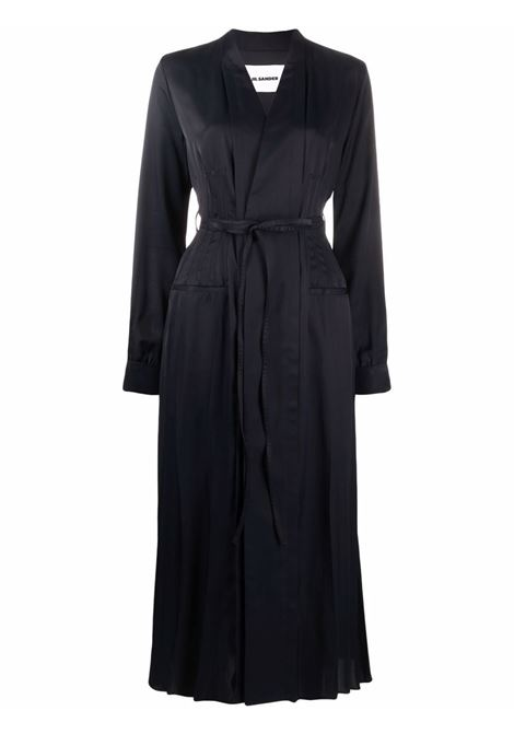 Blue fluid belted wrap dress - women  JIL SANDER | JSWT506706WT381500402