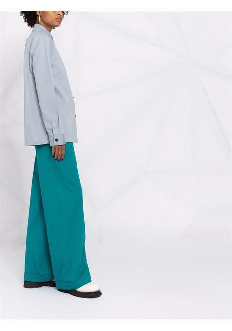 Camicia con colletto classico in blu - donna JIL SANDER   JSWT605406WT251400042