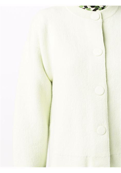 Green crew-neck knitted cardigan - women  JIL SANDER | JSWT754313WTY21098329