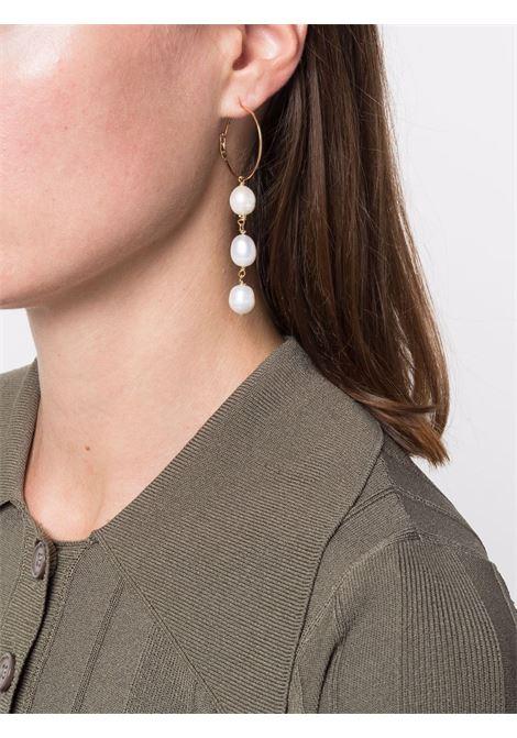 Gold-tone pearl drop earrings - women  JIL SANDER   JSWT838181WTS80039716