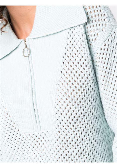 Open-knit zipped jumper in blue - women  JONATHAN SIMKHAI   4212061KTDWHT