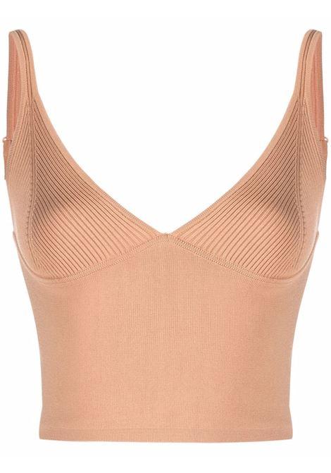 Fine-knit bra-top in butterscotch - women  JONATHAN SIMKHAI   4212104KBTTRSCTCH