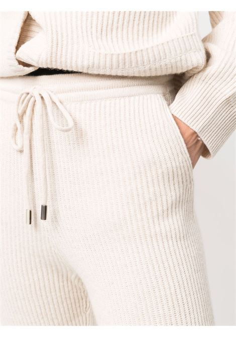 Ribbed-knit track pants in parchment - women  JONATHAN SIMKHAI   4214022KPRCHMNT