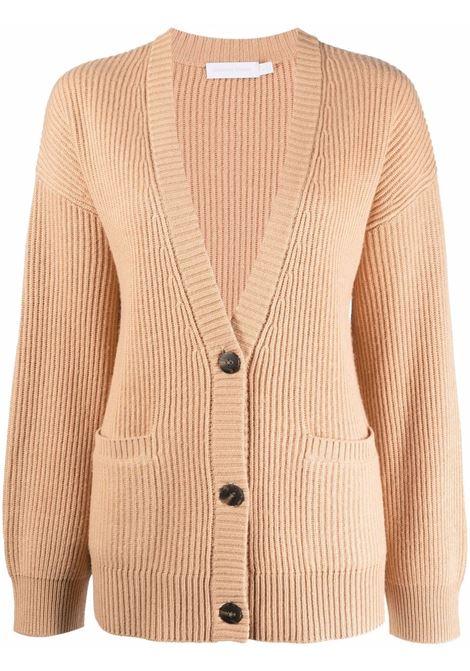 Ribbed-knit cardigan in butterscotch - women  JONATHAN SIMKHAI   4216026KBTTRSCTCH