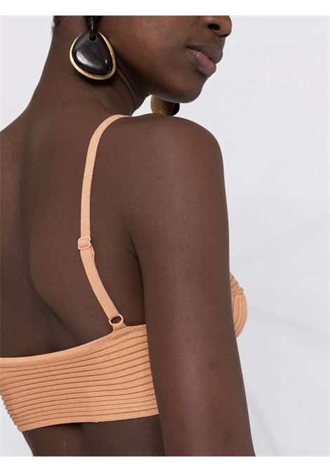 Ribbed knitted bra top in parchment - women  JONATHAN SIMKHAI   4218033KBTTRSCTCH