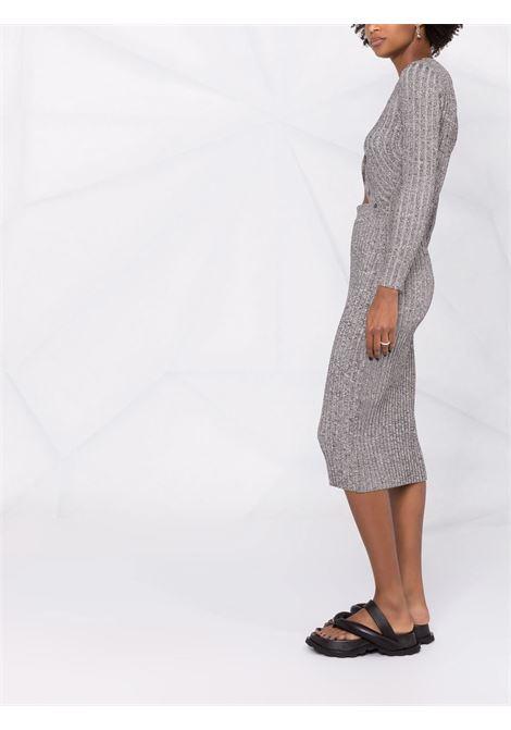 Grey ribbed-knit dress - women  JONATHAN SIMKHAI   5211147KBLK