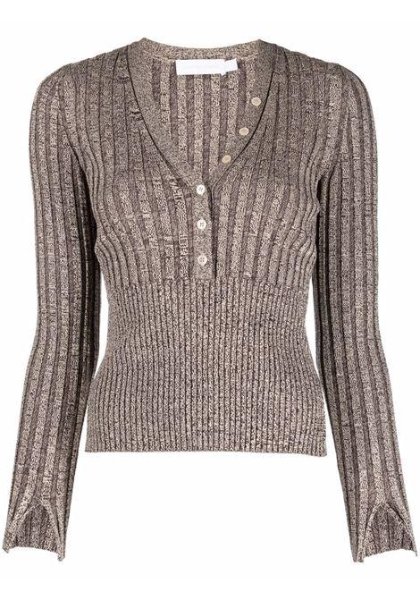 Brown ribbed knit jumper - women  JONATHAN SIMKHAI   5212071KDNCHCLT