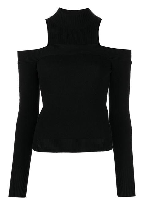 Black ribbed-knit off-shoulder jumper - women  JONATHAN SIMKHAI   5212176KBLK