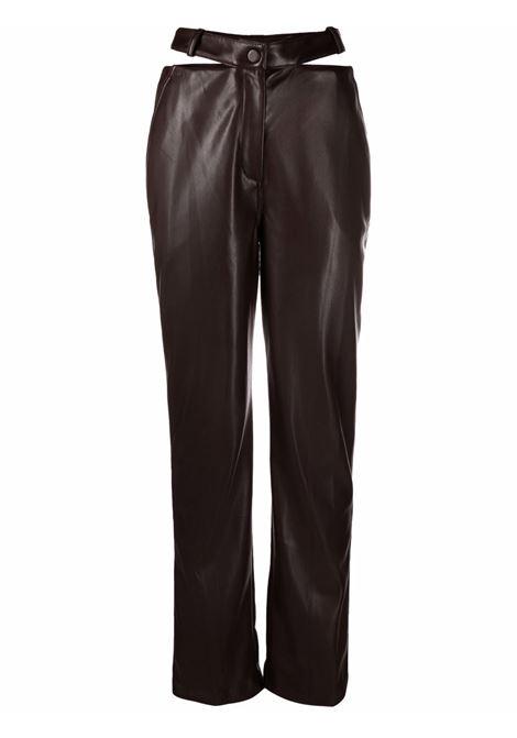 Brown cut-out high-waisted trousers - women  JONATHAN SIMKHAI   5214015LCHCLT