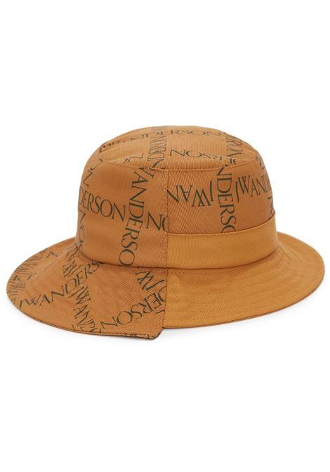 Mustrad yellow asymmetric logo-plaque bucket hat - unisex JW ANDERSON | AC0101FA0091252