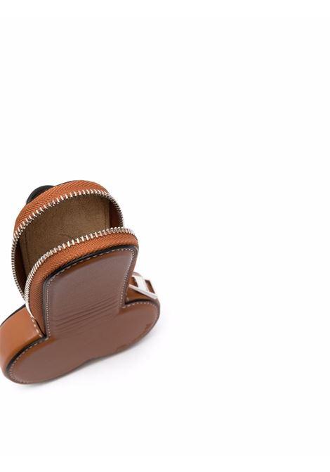 Brown stitch-detail coin purse - women  JW ANDERSON | AC0130LA0020623