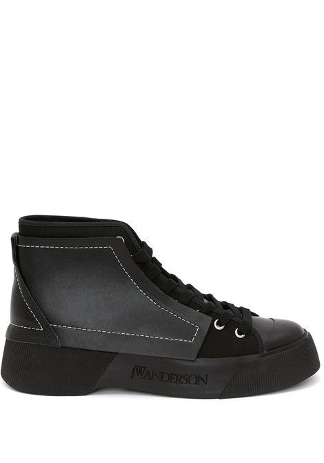Black panelled high-top sneakers - men  JW ANDERSON | ANM37500A14052001