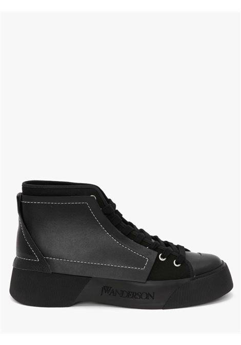 Black panelled high-top sneakers - women  JW ANDERSON | ANW37000A14052001