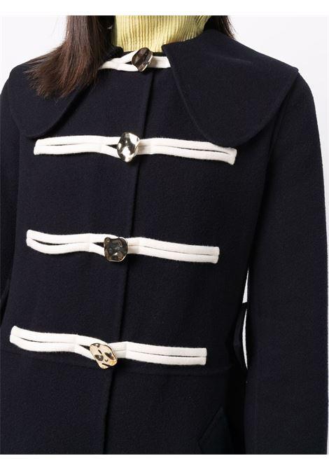 Cappotto montgomery con colletto alla peter pan in blu - donna JW ANDERSON | CO0156PG0642888