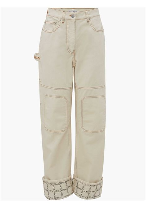 Turn-up workwear jeans ivory white - women JW ANDERSON | DT0017PG0571006