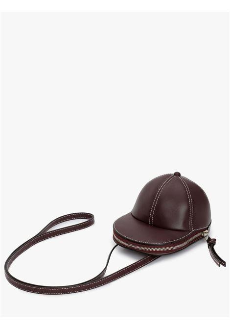 Medium cap crossbody bag bordeaux - unisex JW ANDERSON | HB0230LA0001399