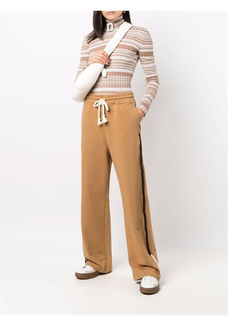 Wide-leg drawstring traousers tobacco brown - women  JW ANDERSON | JE0133PG0458619