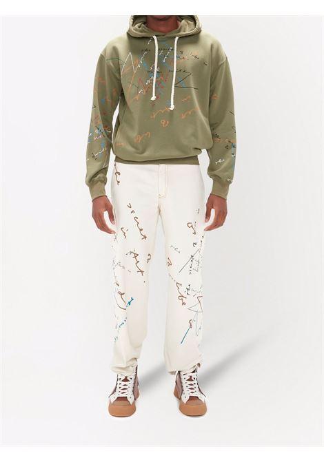 Khaki green oscar wilde hooded sweatshirt - women  JW ANDERSON | JO0057PG0458575
