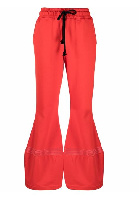 Pantaloni a gamba ampia con coulisse in rosso - donna JW ANDERSON | JR0001PG0717459