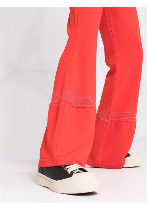 Red drawstring wide-leg trousers - women  JW ANDERSON | JR0001PG0717459