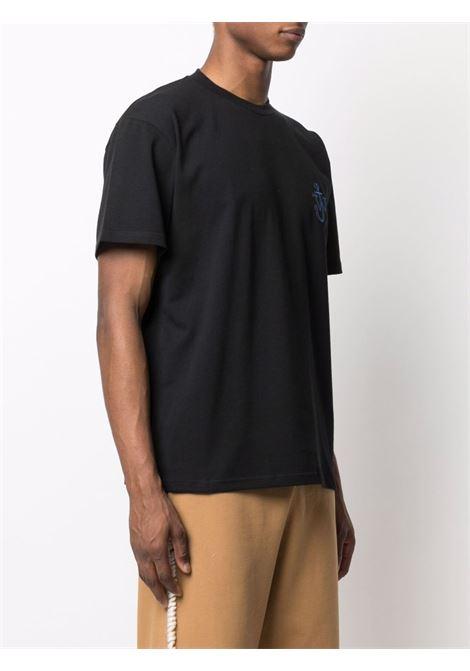Crew-neck logo-print t-shirt navy black - men  JW ANDERSON | JT0033PG0482999