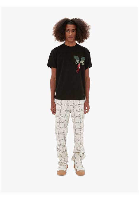 Printed veggie logo t-shirt black - men  JW ANDERSON | JT0041PG0482999