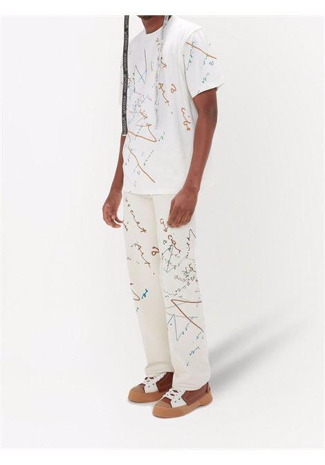 White oscar wilde oversized T-shirt - men  JW ANDERSON | JT0045PG0482002