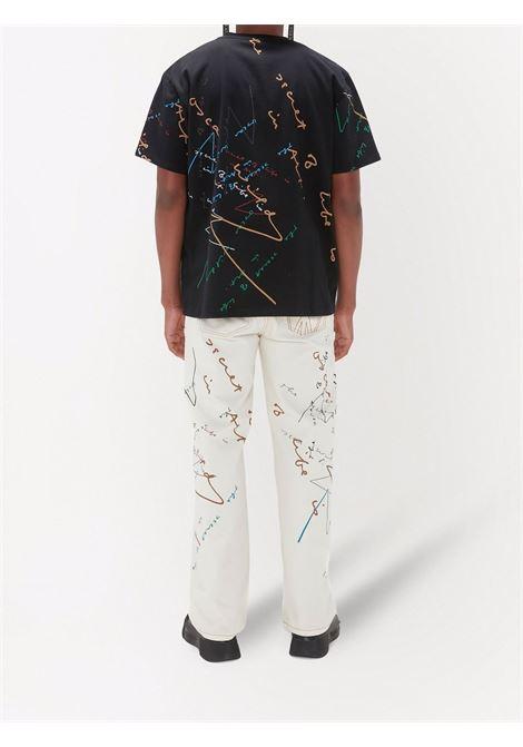 Black oscar wilde oversized T-shirt - men  JW ANDERSON | JT0045PG0482999