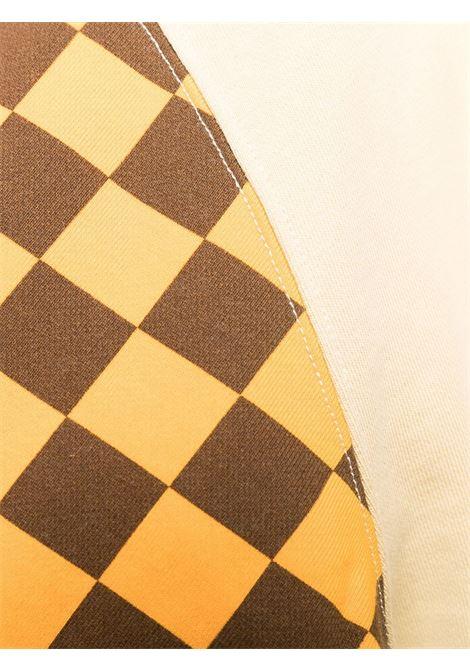 Yellow and beige checkerboard print sweatshirt - men  JW ANDERSON | JW0006PG0458150