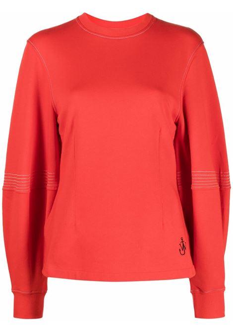 Red balloon-sleeve sweatshirt - women  JW ANDERSON | JW0015PG0717459