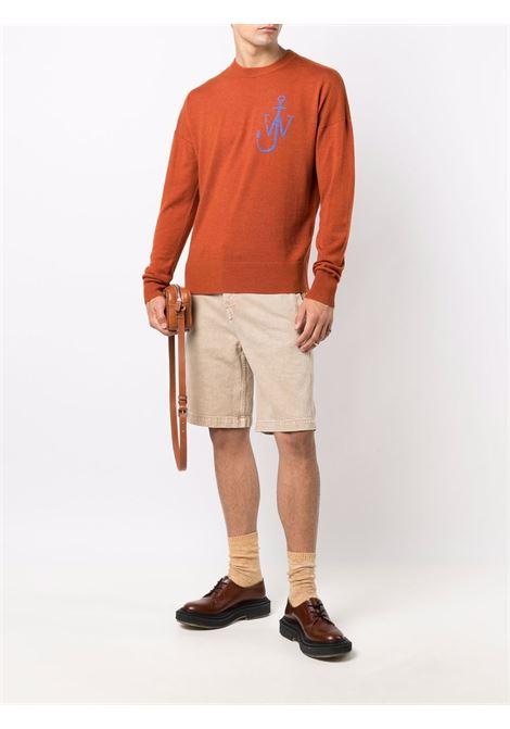 Rust crew-neck jw ancor jumper - men  JW ANDERSON | KT0045YN0008405