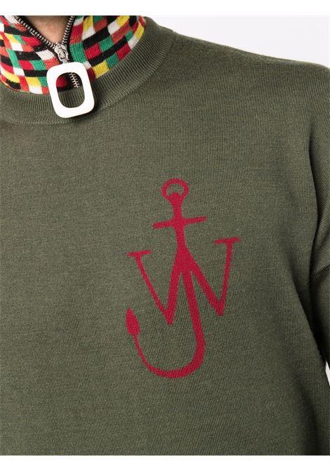 Green crew-neck jw ancor jumper - men  JW ANDERSON | KT0045YN0008500