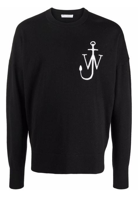 Maglione a girocollo con logo in nero - uomo JW ANDERSON | KT0045YN0008901