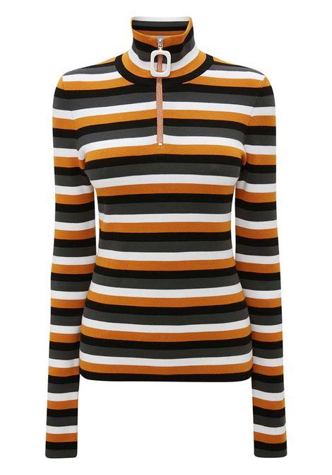 Striped henley top multicolored - women JW ANDERSON | KW0431YN0148251