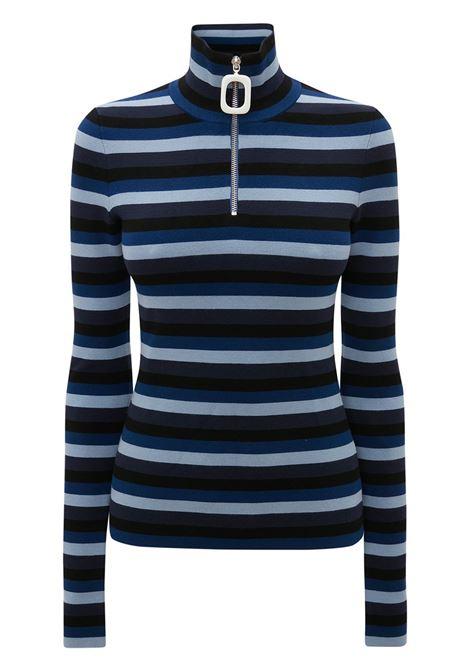 Striped henley top multicolored - women JW ANDERSON | KW0431YN0148888
